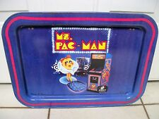 Ms. Miss Pac-Man Metal Collectible Tray with legs