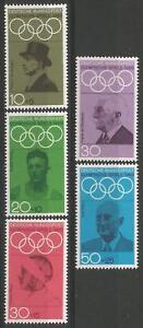 Germany (West) 1968 MNH - Sports Olympic Games 1972 Coubertin Diem von Langen