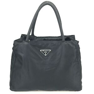 100% authentic Prada nylon tote bag Tesuto black used 264-2-j