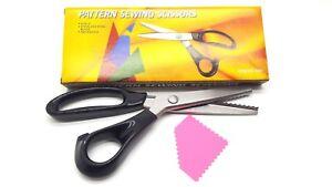 """9"""" Fabric Steel Dressmaking Craft Zig Zag Cut Pattern Sewing Scissors"""