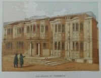 Antique lithograph print - Old palace at Greenwich - Leighton Bros