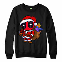 Deadpool Santa Christmas Jumper, Wade Wilson Marvel Unisex Adult Kids Jumper Top