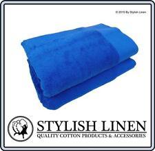 Bath Towels 6 Piece Set 100% Egyptian Cotton 650GSM New Bulk Buy Pieces Blue