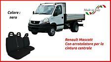 Coprisedili Renault Mascott con arrotolatore fodera auto trapuntati nero