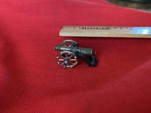Vintage Miniature Brass CANNON - Excellent Detail On Cannon