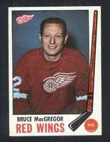 1969-70 Topps #63 Bruce MacGregor NM/NM+ Red Wings 128382