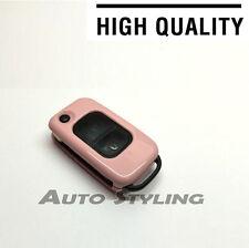 Funda Rosa Mercedes Benz Clave Fob 2 botón Exterior Protector para bolsa de casco Flip 72p