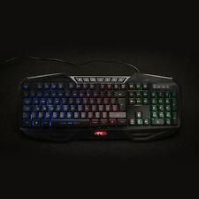 Ares K3 Rainbow Colors Backlit USB Wired Illuminated Gaming Keyboard UK Layout
