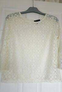Never Worn Atmosphere Ivory Lacey Top Size 12
