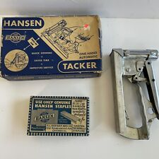 Vintage Hansen One-Hand Automatic Tacker T-3 USA And Staples