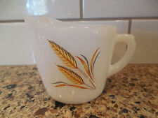 Vintage Fire-King Golden Wheat Creamer Fire King Oven Ware Milk Glass