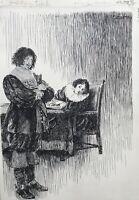 Viggo Jastrau 1857-1946 Disegno Illustration Jomfru Rigborg Virgin Vergine
