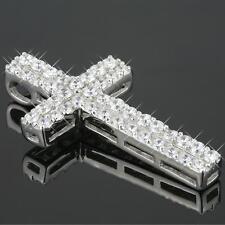 Damen Kreuz Anhänger Zirkonia 925 Sterling Silber plattiert UVP: 49€ A1301