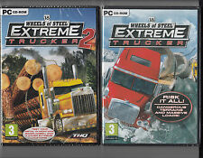 18 Wheels of Steel Extreme Trucker 1 and 2 Combo (2 GAMES) PC Brand New Sealed