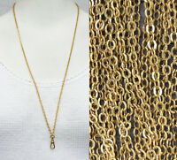 """Victorian Watch chain necklace chatelaine 29"""" old Gold Repro muff guard lanyard"""