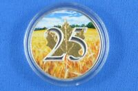 2013 - 1 oz Silver Commemorative Maple  Leaf  With Wheat Field Colouring