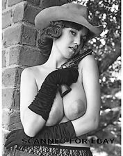 Model nude girl busty female cowgirl photo pic big breasts print woman JULIE-s
