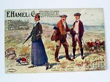 1910 E.HAMEL/NOTTINGHAM SIGNS OF ZODIAC ADVERTISING SEPTEMBER CALENDAR POSTCARD