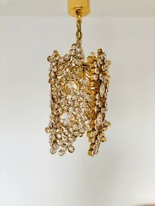 Rare Palwa Crystal Pendant Lamp Mid Century Modern Germany 1960s