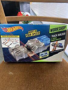 NIB 2013 Hot Wheels Workshop Track Builder 2-Speed Power Booster Mattel