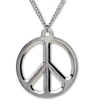 Pewter fashion necklaces pendants for sale ebay large peace sign polished silver finish pewter pendant necklace nk 447 aloadofball Images