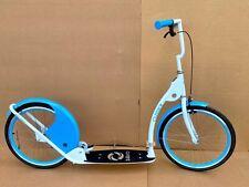 """Adult Kick Scooter Kick Bike 20"""" Wheels Lt Blue/Blue"""