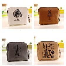 Vintage Retro New Canvas Coin Bag Card Case Mini Zipper Wallet Purse Bags