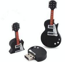 Cartoon Black Guitar shape USB 2.0 16GB flash drive memory stick disk pendrive