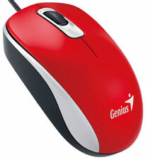 Genius Wired USB Optical Mouse DX-110 for Windows & Mac - Red