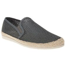 New Mens SOLE Grey Buckly Textile Shoes Espadrilles Slip On