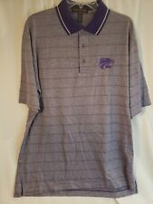 Cross Creek Mens Golf Polo Shirt  - Sz. LARGE  - Purple Houndstooth  - New w/Tag