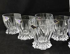 Crystal Glass Rocks Set of 6 Tumblers 10oz Whiskey Cognac Vodka Bohemia Crystal