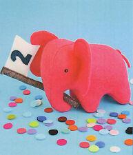 Elefante a Festa-Cucito Craft a5 Scheda Creative modello