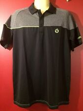 SUNDERLAND OF SCOTLAND Men's Black Golf Polo Shirt - Size Small - NWT