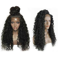 Women Curly Wig  Full Wigs Black Brazilian Human Hair Deep Wavy Curly Lace Front