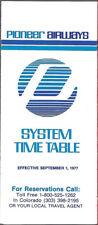 Pioneer Airways system timetable 9/1/77 [8021]