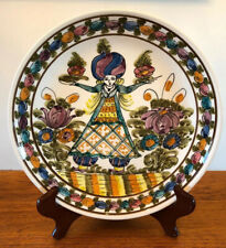 KN Skyros Greece handmade/ hand painted plate, Wall Hanging, EUC! Art Pottery