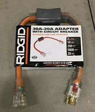 Ridgid 30A-20A Adapter with Circuit Breaker (10 gauge-250 volts-5000 watts)