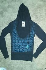 HIM heartagram Womens S Deep V Hoodie Ville Valo NWOT Discontinued Merchandise