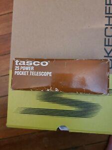 Tasco 1AG 25 Power Pocket Telescope spyglass 25X30 + Zip up Carrying Case Pouch