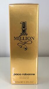 Paco Rabanne 1 ONE MILLION Men 3.3oz/100ml Shower Gel - NIB - Sealed - Spain