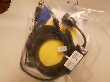 DELL 0K5GRD PACKAGE,09CKJ5 USB KVM SWITCH,00R717 ETHERNET CABLES