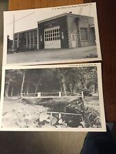 2 - U. S. Post Office/Fire House & Little Bit Of New Ringgold, Pa Postcards