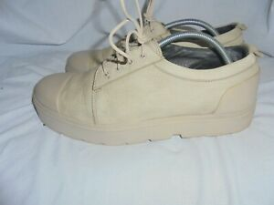 CAMPTER WOMEN BEIGE LEATHER LACE UP  TRAINERS SIZE UK 7 EU 40 VGC