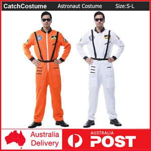 Adult Astronaut Costume Jumpsuit Pilot Men Space Camp Suit Book Week Cosplay S-L