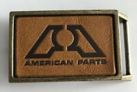 American Parts Company Vintage Logo Brass Belt Buckle