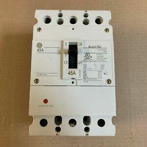 GE FBN FBN36TE045R2 3 Pole 45 Amp 600V Record Plus Circuit Breaker