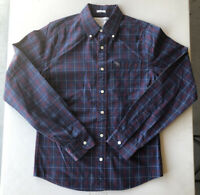 Men's Abercrombie Muscle Long Sleeve Button Down Plaid Shirt Pre-Owned Size M