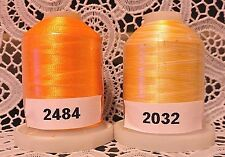 variegated orange 100% Polyester Machine Embroidery Thread 1110 yard Spools