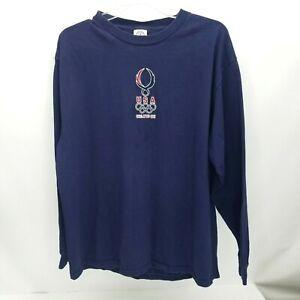 2008 Beijing Olympics USA Mens T Shirt Size Extra Large Delta XL Vintage Blue